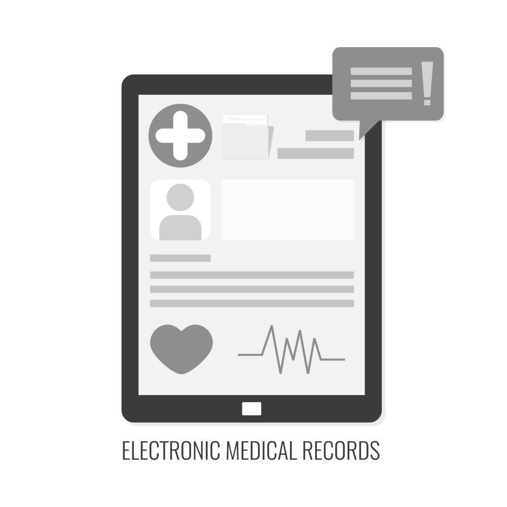 medical record - B&W 1000x1000